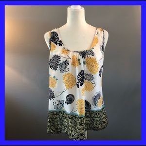 Joy & Joy sleeveless floral tank style top. Medium